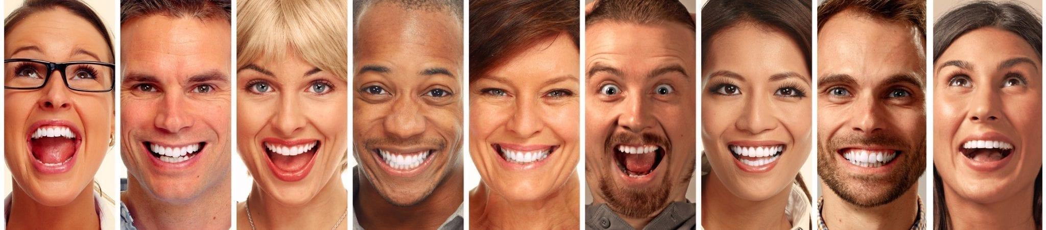 header lachende Frauen Männer